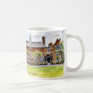 nichols Albright Hall with sky, sign congrats Coffee Mug