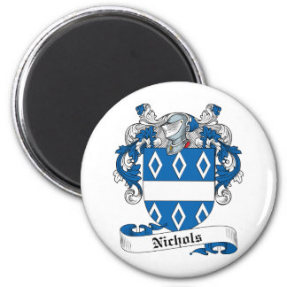 Nichols Family Crest 2 Inch Round Magnet