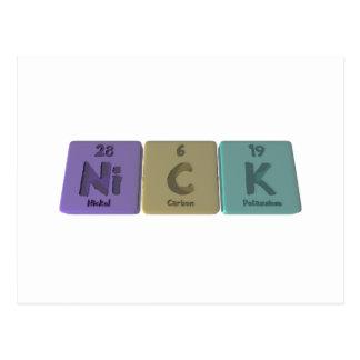 Nick as Nickel Carbon Potassium Postcard