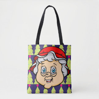 NiCK DAViD - Mrs Claus Christmas Tree Tote Bag