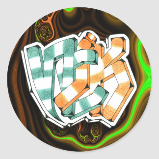 Nick ~ Garffiti Art Sticker 1.5""