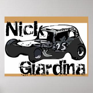 Nick Giardina Coupe Stockcar Modified Racing Car Poster
