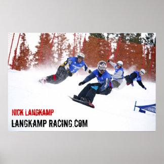 Nick Langkamp Racing Poster