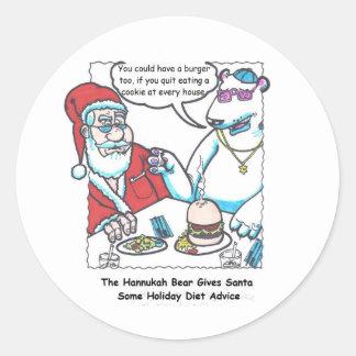 Nick & The Bear Diet Advice Round Sticker
