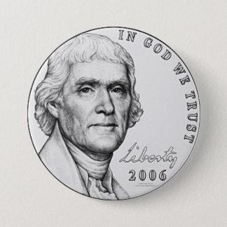 Nickel 3 Inch Round Button