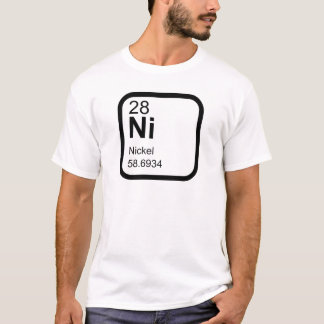 Nickel - Periodic table science design T-Shirt