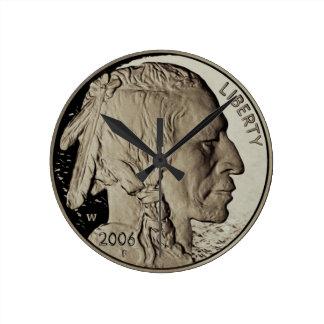 Nickel Round Clock