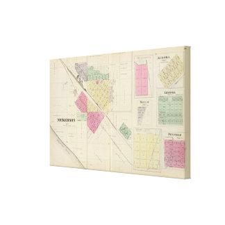 Nickerson, Dragoon, Aurora, Barclay, Kansas Canvas Print