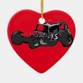 Nicky Giardina Danbury Fair Racearena SNYRA NASCAR Ceramic Heart Ornament