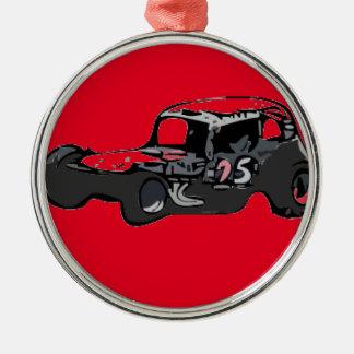 Nicky Giardina Danbury Fair Racearena SNYRA NASCAR Silver-Colored Round Ornament