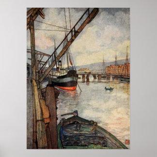 Nico Wilhelm Jungmann ~ Trondhjem Norway Port Poster