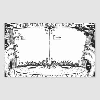 Nicola L. Robinson - Book Giving Day bookplate Sticker