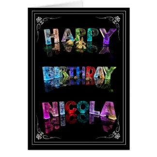 Nicola -  Name in Lights greeting card (Photo)