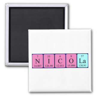 Nicola periodic table name magnet