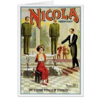 Nicola Prince of Magic ~ Vintage Magician Act Card