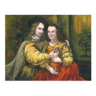 Nicolas Cage, Rembrandt Painting, Mix Tape Postcard