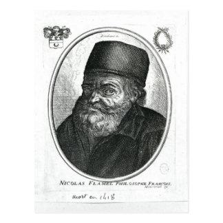 Nicolas Flamel engraved by Balthazar Moncornet Postcard