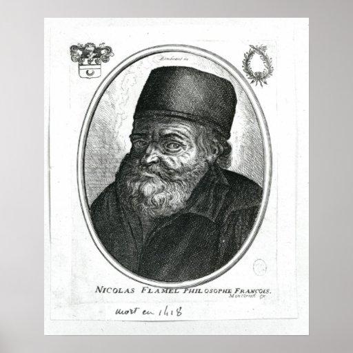 Nicolas Flamel engraved by Balthazar Moncornet Print