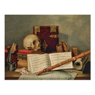Nicolas Henri Jeaurat de Bertry Vanitas Postcard