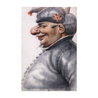 Nicolas Lagneau Grotesque Man Wearing a Turban Canvas Print