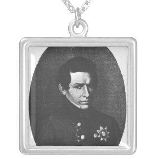 Nicolas Lobatchevsky Silver Plated Necklace