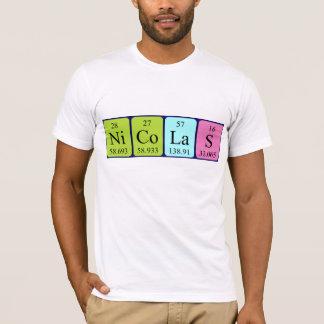 Nicolas periodic table name shirt