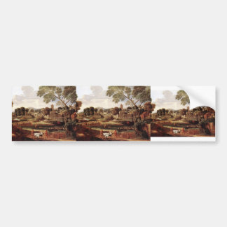 Nicolas Poussin- Landscape with Funeral of Phocion Bumper Sticker