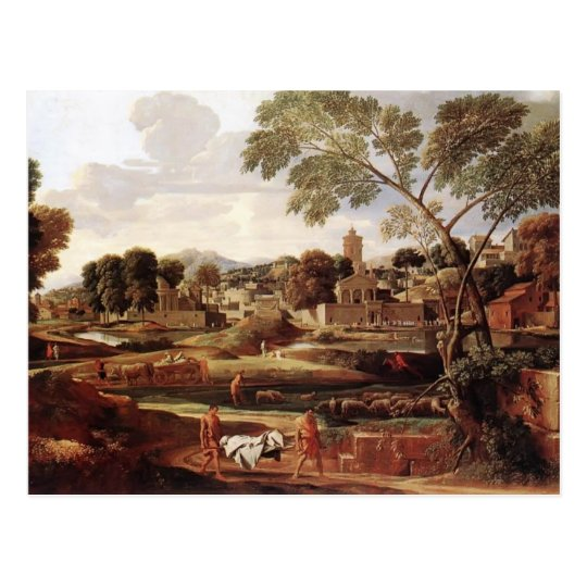 Nicolas Poussin- Landscape with Funeral of Phocion Postcard