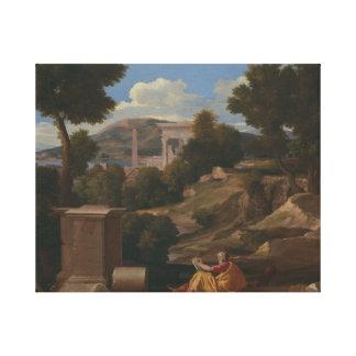 Nicolas Poussin - Landscape with Saint John Canvas Print