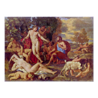 Nicolas Poussin - Midas and Bacchus Poster