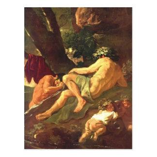 Nicolas Poussin- Midas washing at River Pactolus Postcard