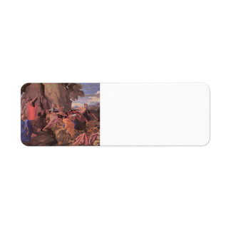 Nicolas Poussin-Moses Striking Water from the Rock Custom Return Address Labels