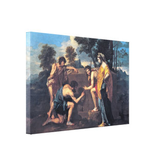Nicolas Poussin - Shepherds in Arcadia Canvas Print