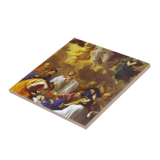 Nicolas Poussin- The Miracle of St. Francis Xavier Tile