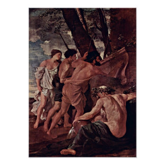 Nicolas Poussin - The Shepherds of Arcadia Poster