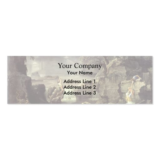 Nicolas Poussin- Winter (The Flood) Business Card Template