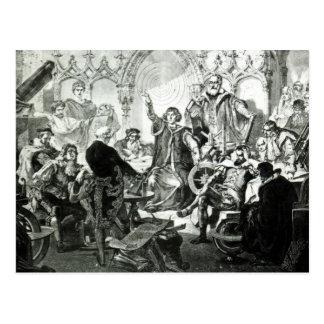 Nicolaus Copernicus  Explaining his Theory Postcard