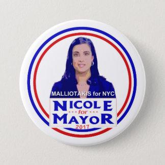 Nicole Malliotakis for NYC Mayor 3 Inch Round Button