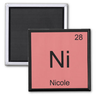 Nicole Name Chemistry Element Periodic Table Square Magnet