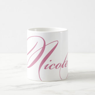 Nicole Personalized Name Coffee Mug - Pink