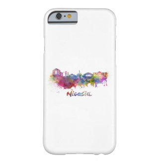 Nicosia skyline in watercolor barely there iPhone 6 case