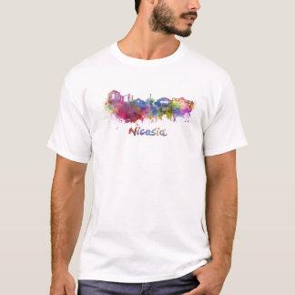 Nicosia skyline in watercolor T-Shirt