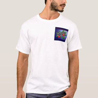 Nicotine Molecule (pocket) T-Shirt