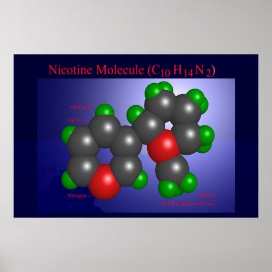 Nicotine Molecule (print) Poster