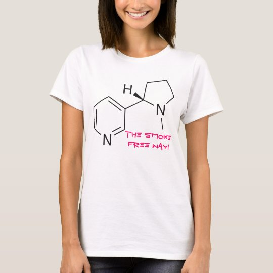 Nicotine - The Smoke Free Way! (White) T-Shirt