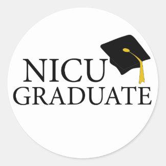 NICU Graduate Classic Round Sticker
