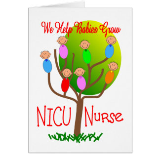 NICU Nurse Gifts, Adorable babies in a tree Greeting Card