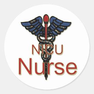 NICU Nurse Round Sticker