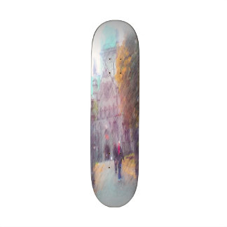 Nidaros photo paint skate deck