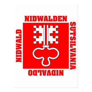 Nidwalden Switzerland Canton Flag Postcards